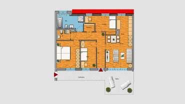 4-Raum-Wohnung im DG