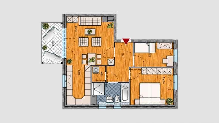 3-Raum-Wohnung im 1.OG