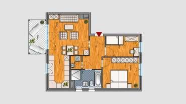 3-Raum-Wohnung im 3.OG