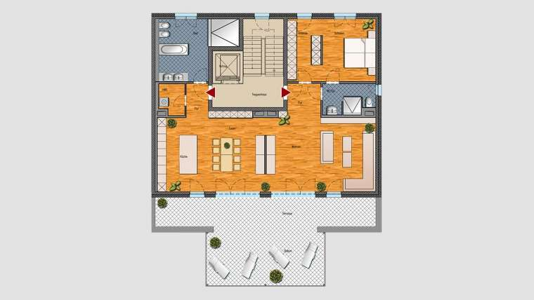 Loft-Wohnung im Dachgeschoss