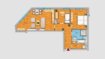 3-Raum-Wohnung im EG