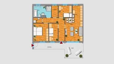4-Raum-Wohnung im 1.OG