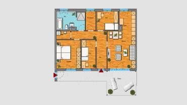 4-Raum-Wohnung im 2.OG