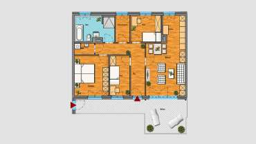 4-Raum-Wohnung im 3.OG
