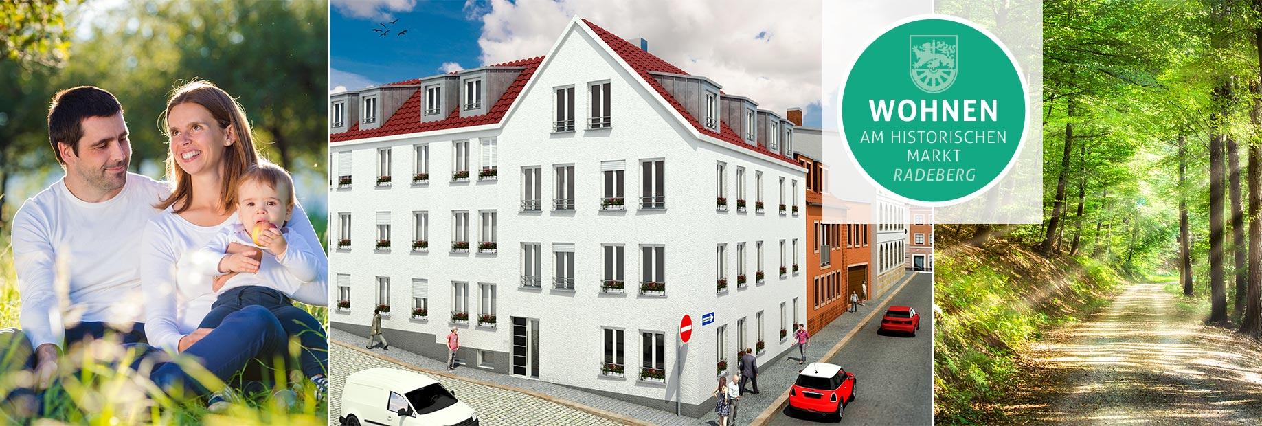 Bauvorhaben Neubau Eigentumswohnungen Mittelstraße 3 in Radeberg bei Dresden