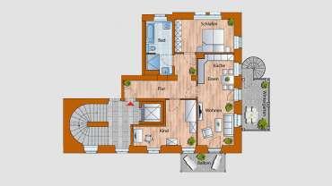 4-Raum-Wohnung im 1. OG