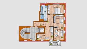4-Raum-Wohnung im 3. OG