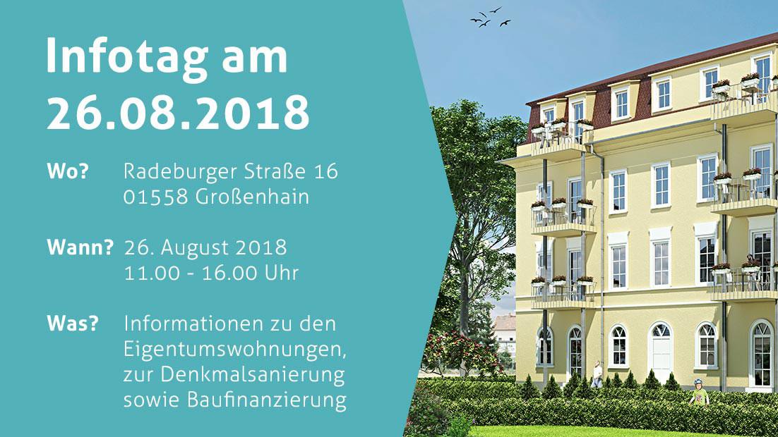"""26. August – Infotag """"Wohnoase an der Röder"""" in Großenhain"""