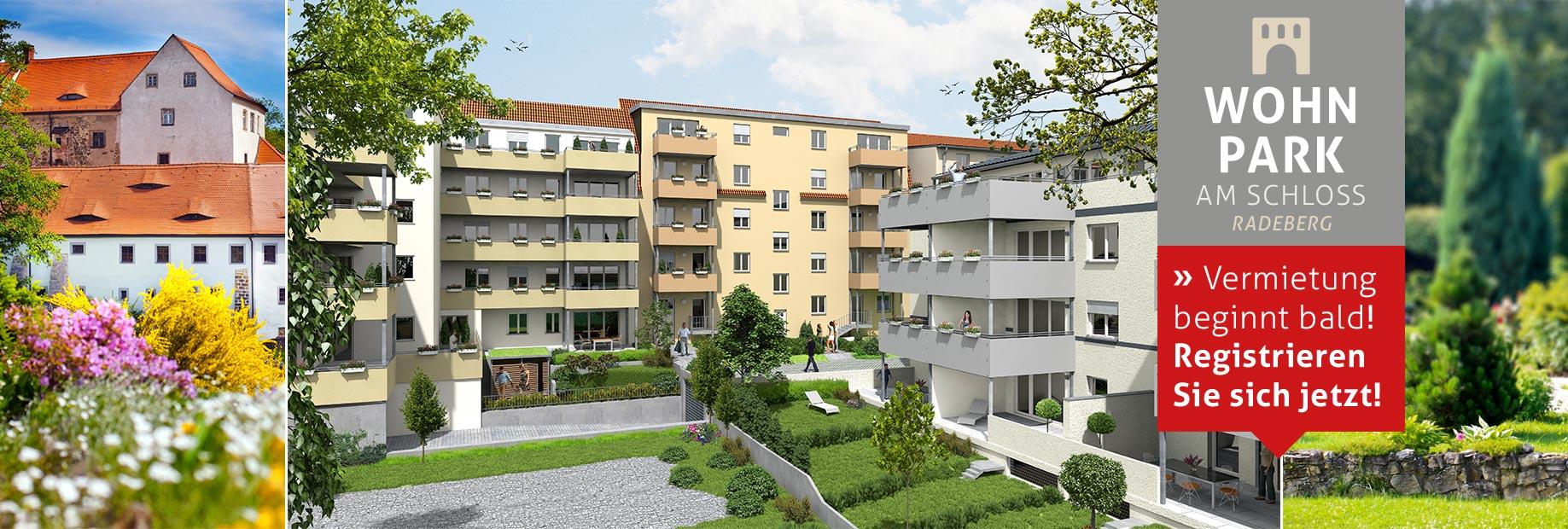 Bauvorhaben Neubau Vermietung Wohnungen Pulsnitzer Straße 38-40 in Radeberg bei Dresden