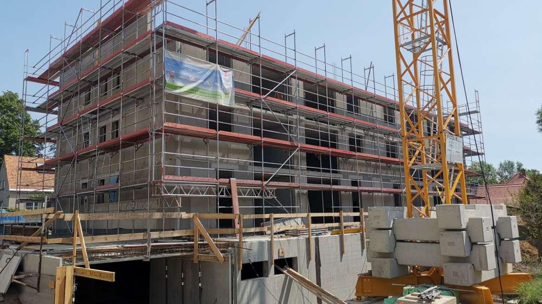 Baufortschritt Pulsnitzer Straße Radeberg