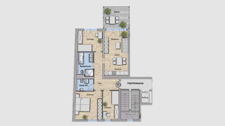 4-Raum Wohnung WE05
