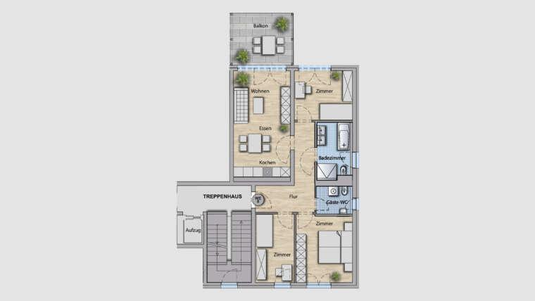 4-Raum Wohnung WE08